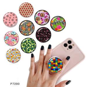 Donut Der Handyhalter Lackierte Telefonbuchsen mit schwarzem oder weißem Druckmustergrund