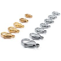 25 шт. / Упак. Из нержавеющей стали, золотая застежка-лобстер, застежка для браслета, застежка для ожерелья, застежка для креветок, застежка для соединения ювелирных изделий DIY