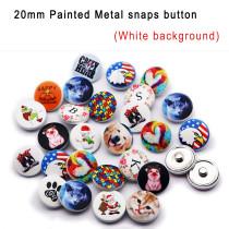 Boutons pression en métal peints 15MM 20MM 25MM Personnalisation client Personnalisez votre motif