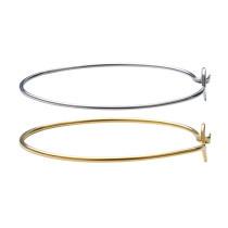 2 шт. / Упак. Браслет из нержавеющей стали золото / сталь цвет модный индивидуальный браслет ювелирные изделия браслет внешний диаметр 64 мм