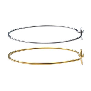 2pcs / pack Bracelet en acier inoxydable Bracelet de personnalité de la mode couleur or / acier Bracelet bijoux diamètre extérieur 64mm
