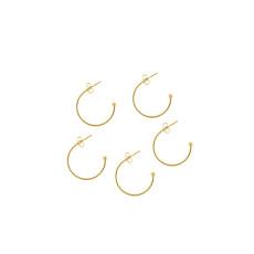 Золото 6 шт. / Упак., Ушные крючки из нержавеющей стали, серьги-серьги, C-образные серьги ручной работы своими руками, материал из бисера