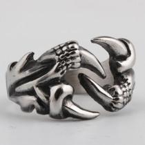 Nouvelle bague en acier inoxydable de griffe de dragon de personnalité dominatrice créative de mode