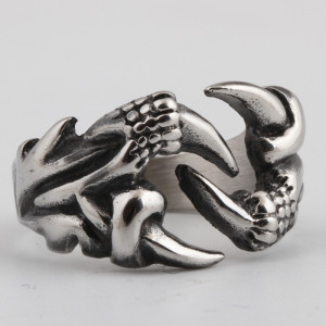 New fashion creative domineering personality dragon claw stainless steel ring