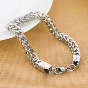 Fashionable and simple stainless steel men's bracelet, multi-ring and multi-layer jewelry, stainless steel jewelry chain, men's bracelet
