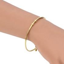 Браслет из нержавеющей стали, золотой модный браслет, браслет, ювелирные изделия оптом, внешний диаметр 64 мм