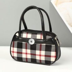 Fashion zipper handbag go out mobile phone coin purse fit 18mm chunks