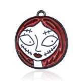 2CM alliage dessin animé noël Halloween Mickey sirène goutte huile pendentif collier Bracelet accessoires