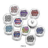 20MM  wildcats  eagles   Print  glass  snaps  buttons