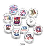 20MM  USA   Print  glass  snaps  buttons