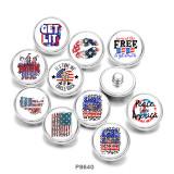 20MM Flag USA Get lit Печать кнопок на стекле