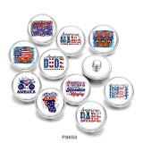 Стеклянные кнопки с принтом Mama USA, 20 мм