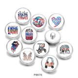 Стеклянные кнопки с принтом Love USA Mama, 20 мм