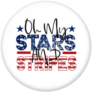 20MM  love  USA  Mama  Print  glass  snaps  buttons