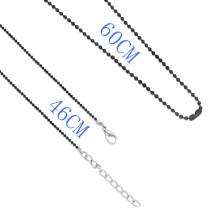 Différents styles de longueur de métal La chaîne de mode en fer plaqué noir convient à tous les bijoux