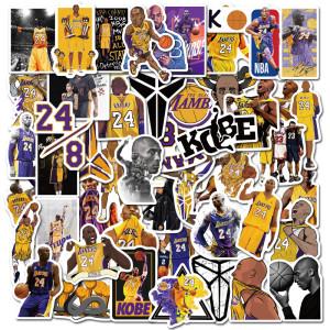 Enthält 50 schwarze Mamba Kobe Aufkleber personalisierte Graffiti Basketball Aufkleber Gepäck Laptop wasserdichte Aufkleber