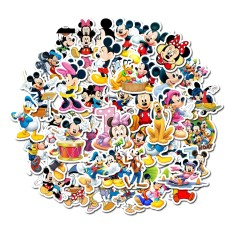 Contains 50 non-repetitive cartoon animated Mickey Mouse Waterproof stickers for children