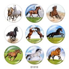 20MM Pferd Druckglas Druckknöpfe