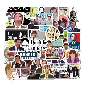 Contains 50 American TV series The Office cartoon stickers Friends stickers Trolley travel suitcase waterproof stickers