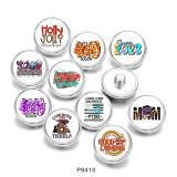 Стеклянные кнопки с принтом MOM USA 20 мм