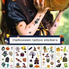 Waterproof and sweatproof funny cartoon pumpkin disposable temporary tattoo paper Halloween waterproof tattoo sticker
