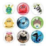 20 мм животные панда сова принт стеклянные кнопки кнопки