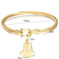 Stainless steel horseshoe buckle bracelet stainless steel mother bracelet