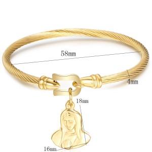 Edelstahl-Armband mit Hufeisenschnalle Edelstahl-Mutterarmband