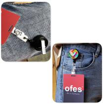 Clip rotatif personnalisé de 3.2 cm rétractable facile à tirer boucle d'insigne porte-badge porte-ID