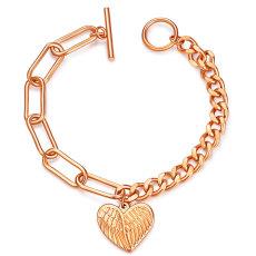 Temperament all-match bracelet stainless steel wings love ladies bracelet
