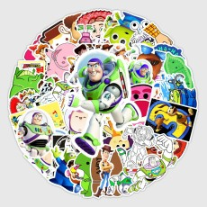 53 Toy Story Anime Cartoon Stickers, Luggage Tablet PC Decoration Waterproof Stickers, Car Stickers