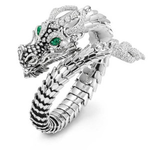 Three-dimensional Panlong Shaped Domineering Opening Adjustable Dragon Ring