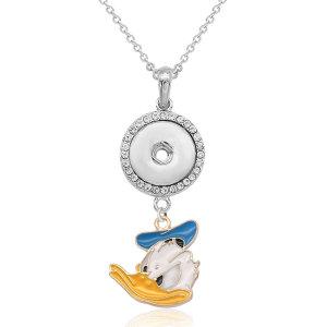 Collier de dessin animé avec accessoires argent fit 20MM morceaux 50CM chaîne s'enclenche collier de bijoux pour les filles