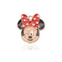 2CM Alloy Cartoon Christmas Halloween Mickey Mermaid Drop Oil Pendant Necklace Bracelet Accessories  necklace for girls
