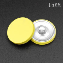 15 mm metal multicolor superficie plana chapado en plata encantos a presión Multicolor ajuste 12 mm joyería a presión
