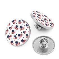 Fond argenté personnalisé Photos imprimées 18mm 21mm 25mm 28mm broche en métal sans boutons de couture boutons décoratifs