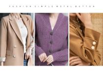 15MM18MM21MM25MM28MM broche en métal sans boutons de couture manteau coupe-vent pull bouton boutons décoratifs