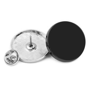 Individuell gedruckte Bildfotos Schwarzer Hintergrund 18mm 21mm 25mm 28mm Metallbrosche ohne Nähknöpfe Zierknöpfe