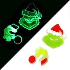 Детский детский силиконовый браслет из ПВХ, светящиеся мультяшные аксессуары, креативные флуоресцентные рождественские украшения на Хэллоуин
