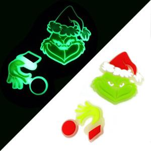 kid junior style silicone bracelet  PVC luminous cartoon accessories creative fluorescent Christmas Halloween