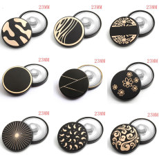 23mm metal laser silver plated snap charms