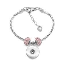 Kupferarmband 1 Knöpfe Druckknopf Silberarmband mit österreichischen Diamantperlen passend zu Druckknöpfen Schmuck