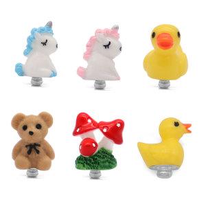 12MM Cartoon  Christmas gift Unicorn Bear Yellow Duck Mushroom snap charms Multicolor  Children