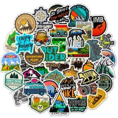50 outdoor travel personalized graffiti stickers stickers Amazon hot luggage bicycle skateboard waterproof stickers