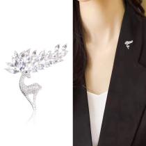 Broche en strass de noël accessoires pour femmes veste broche cardigan décoration cerf mignon brillant tempérament bijoux