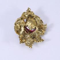 Broche de fleur de diamant en cristal vintage broche d'accessoires de vêtements de tempérament haut de gamme