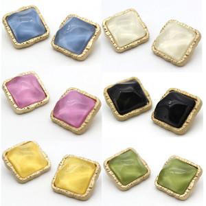25MM métal rond gelée or multicolore breloques plaquées or