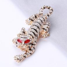 Broche tigre veste pour hommes costume animal broche fixe personnalité dominatrice design créatif bijoux en métal corsage