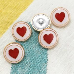 Breloques plaquées or en métal émaillé Love de 20 mm