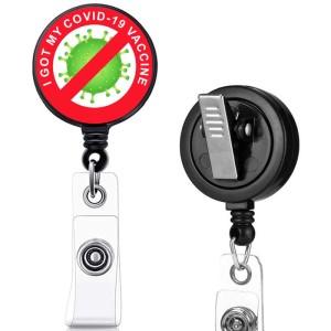 COVID-19 motif d'impression infirmière clip rotatif boucle de traction facile télescopique boucle de certificat 3.2 cm